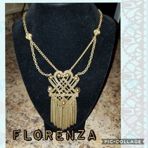 Jewelry - Vintage Florenza Egyptian Rival Art Deco Necklace